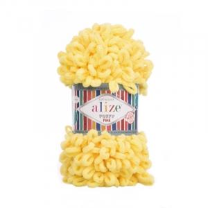 Пряжа ALIZE PUFFY FINE 113 - желтый (100% микрополиэстер)
