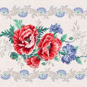 Дорожка 50 см набивная арт 61 Тейково рис 30121 вид 1 Маков цвет