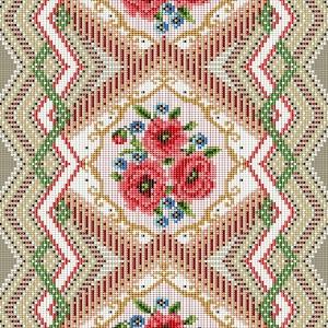 Дорожка 50 см набивная арт 61 Тейково рис 30101 вид 1 Цветочная мозаика