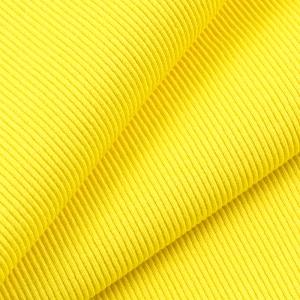 Ткань на отрез кашкорсе с лайкрой 2210-1 цвет желтый 2