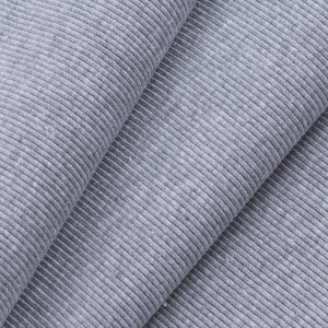 Ткань на отрез кашкорсе с лайкрой М-2000 серый меланж 2