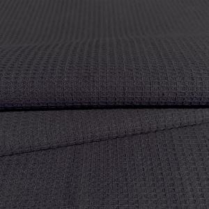 Ткань на отрез вафельное полотно гладкокрашенное 150 см 165 гр/м2 цвет черный
