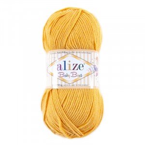 Пряжа для вязания Ализе BabyBest (90%акрил, 10%бамбук) 100гр цвет 488 желтый
