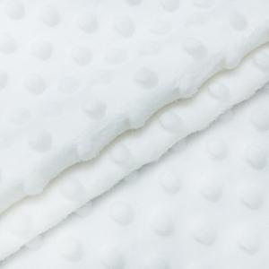 Плюш Минки Китай 180 см на отрез цвет белый