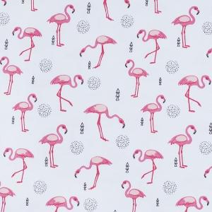Ткань на отрез интерлок пенье Фламинго R175