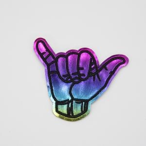 Аппликация рука разноцветная 7*8см