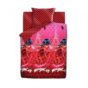 Детское постельное белье из хлопка 1.5 сп LadyBug (70х70) рис. 16024-1/16023-1 Леди Баг