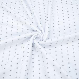 Ткань на отрез интерлок Пшено на белом Т104