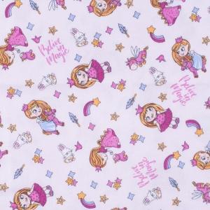 Ткань на отрез фланель грунт 150 см 21239/1 Принцесса цвет розовый