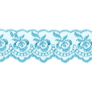 Шитье капрон 40 мм 968 цвет т-голубой