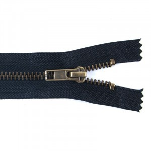 Молния джинсовая антик №5 18 см цвет F322 черный