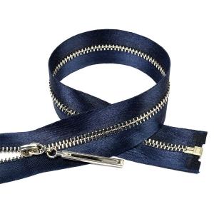 Молния мет №3 никель атласная тесьма 60 см цвет F330 синий