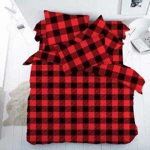 Перкаль 150 см набивной арт 140 Тейково рис 13109 вид 1 Red&Black