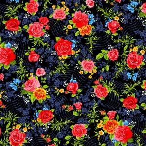 Фланель Престиж 150 см набивная арт 525 Тейково рис 21210 вид 1 Роза