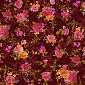 Фланель Престиж 150 см набивная арт 525 Тейково рис 21210 вид 2 Роза
