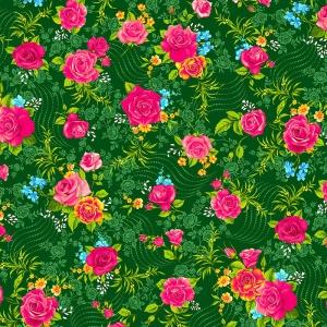 Фланель Престиж 150 см набивная арт 525 Тейково рис 21210 вид 4 Роза