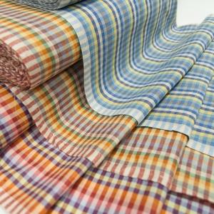 Полулен полотенечный 50 см Клетка вид 2 разные цвета