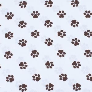 Ткань на отрез бязь 120 гр/м2  детская 150 см 8120/1 Лапки