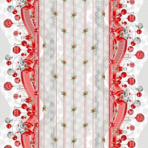 Ткань на отрез рогожка 150 см 202701Р Новогодняя ночь 1