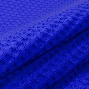 Вафельное полотно гладкокрашенное 150 см 240 гр/м2 7х7 мм премиум цвет 556 синий