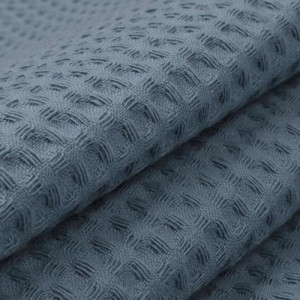 Вафельное полотно гладкокрашенное 150 см 240 гр/м2 7х7 мм премиум цвет 973 серый