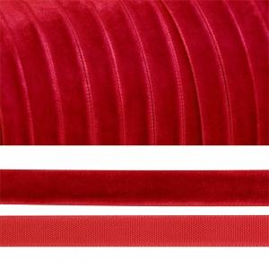 Лента бархатная 10 мм TBY LB1042 цвет т-красный 1 метр