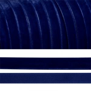 Лента бархатная 10 мм TBY LB1052 цвет т-синий 1 метр