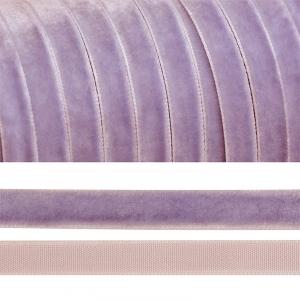 Лента бархатная 10 мм TBY LB1073 цвет сиреневый 1 метр