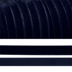 Лента бархатная 15 мм TBY LB1554 цвет т-синий 1 метр