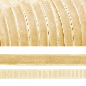 Лента бархатная 20 мм TBY LB2004 цвет молочный 1 метр