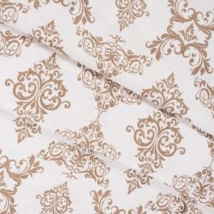 Ткань на отрез бязь плательная б/з 150 см 8105 Дамаск цвет кофе