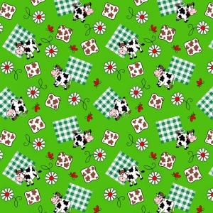 Ткань на отрез вафельное полотно 45 см 144 гр/м2 0698/1 цвет зеленый