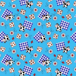 Ткань на отрез вафельное полотно 45 см 144 гр/м2 0698/3 цвет голубой