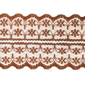Кружево капрон 45 мм/10 м цвет 133-2 коричневый