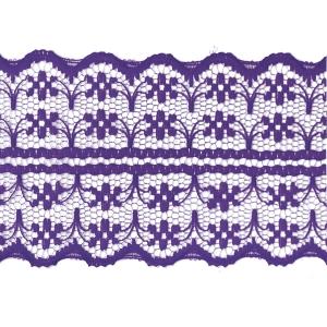 Кружево капрон 45 мм/10 м цвет 133-2 т-фиолетовый