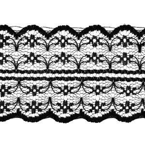 Кружево капрон 45 мм/10 м цвет 133-2 черный