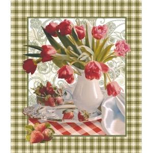 Ткань на отрез вафельное полотно 50 см 170 гр/м2 19481/1 Беатрис