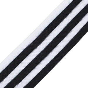Лампасы №27 черно белые полосы 3,5см уп 10 м