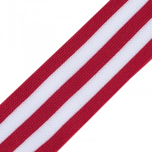 Лампасы №30 красные белые полосы 3см уп 10 м