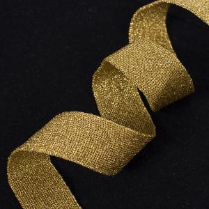 Лампасы №44 золото с люрексом 2,5см уп 10 м