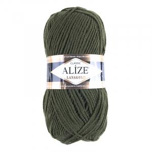 Пряжа для вязания Ализе LanaGold (49%шерсть, 51%акрил) 100гр цвет 29 хаки