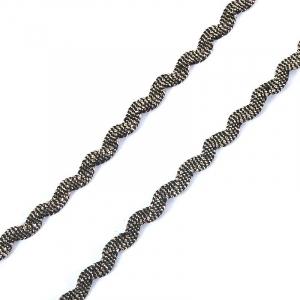 Тесьма плетеная вьюнчик (МЕТАНИТ) С-2914 (3621) г17 уп 20 м ширина 7 мм (5 мм) рис 8657 цвет 143