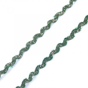 Тесьма плетеная вьюнчик (МЕТАНИТ) С-2914 (3621) г17 уп 20 м ширина 7 мм (5 мм) рис 8657 цвет 194