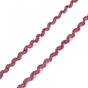 Тесьма плетеная вьюнчик (МЕТАНИТ) С-2914 (3621) г17 уп 20 м ширина 7 мм (5 мм) рис 8657 цвет 195