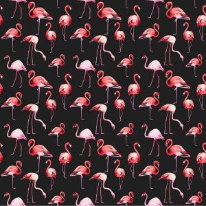 Перкаль 150 см набивной арт 140 Тейково рис 13283 вид 2 Фламинго