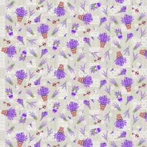 Ткань на отрез рогожка 150 см 461-1 Лаванда