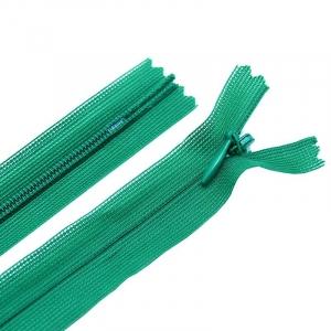 Молния пласт потайная №3 50 см цвет т-зеленый