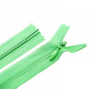 Молния пласт потайная №3 50 см цвет молодая зелень
