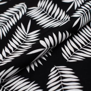 Ткань на отрез Прадо Листья цвет черный