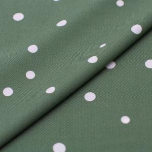 Ткань на отрез супер софт горох цвет зеленый